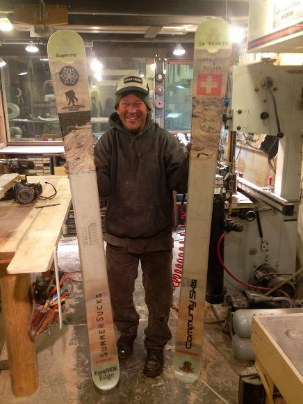 how to make tramp skis